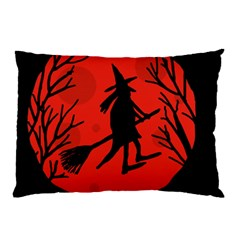 Halloween witch - red moon Pillow Case (Two Sides)