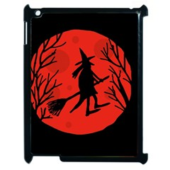 Halloween witch - red moon Apple iPad 2 Case (Black)