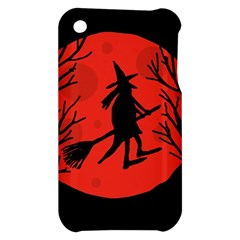 Halloween witch - red moon Apple iPhone 3G/3GS Hardshell Case