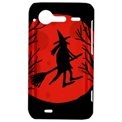 Halloween witch - red moon HTC Incredible S Hardshell Case
