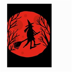Halloween witch - red moon Large Garden Flag (Two Sides)
