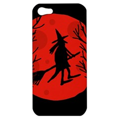 Halloween witch - red moon Apple iPhone 5 Hardshell Case