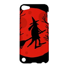 Halloween witch - red moon Apple iPod Touch 5 Hardshell Case