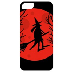 Halloween witch - red moon Apple iPhone 5 Classic Hardshell Case