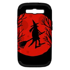 Halloween witch - red moon Samsung Galaxy S III Hardshell Case (PC+Silicone)