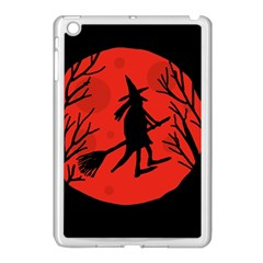 Halloween witch - red moon Apple iPad Mini Case (White)