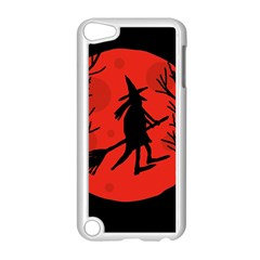 Halloween witch - red moon Apple iPod Touch 5 Case (White)