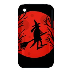 Halloween witch - red moon Apple iPhone 3G/3GS Hardshell Case (PC+Silicone)