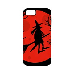 Halloween witch - red moon Apple iPhone 5 Classic Hardshell Case (PC+Silicone)
