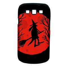 Halloween witch - red moon Samsung Galaxy S III Classic Hardshell Case (PC+Silicone)
