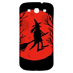 Halloween witch - red moon Samsung Galaxy S3 S III Classic Hardshell Back Case