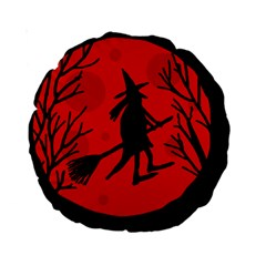 Halloween witch - red moon Standard 15  Premium Round Cushions