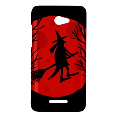 Halloween witch - red moon HTC Butterfly X920E Hardshell Case