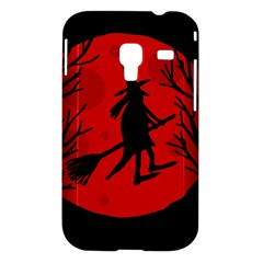 Halloween witch - red moon Samsung Galaxy Ace Plus S7500 Hardshell Case
