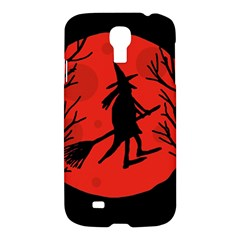 Halloween witch - red moon Samsung Galaxy S4 I9500/I9505 Hardshell Case