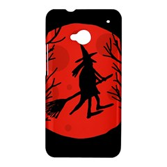 Halloween witch - red moon HTC One M7 Hardshell Case