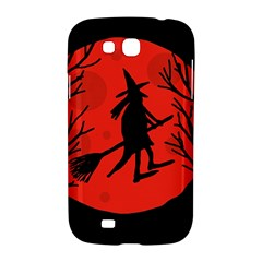 Halloween witch - red moon Samsung Galaxy Grand GT-I9128 Hardshell Case