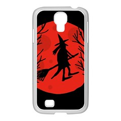 Halloween witch - red moon Samsung GALAXY S4 I9500/ I9505 Case (White)