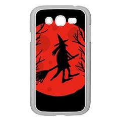 Halloween witch - red moon Samsung Galaxy Grand DUOS I9082 Case (White)