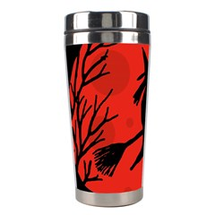 Halloween witch - red moon Stainless Steel Travel Tumblers