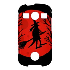 Halloween witch - red moon Samsung Galaxy S7710 Xcover 2 Hardshell Case