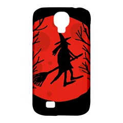 Halloween witch - red moon Samsung Galaxy S4 Classic Hardshell Case (PC+Silicone)