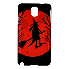 Halloween witch - red moon Samsung Galaxy Note 3 N9005 Hardshell Case