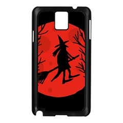 Halloween witch - red moon Samsung Galaxy Note 3 N9005 Case (Black)