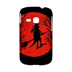Halloween witch - red moon Samsung Galaxy S6310 Hardshell Case