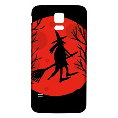 Halloween witch - red moon Samsung Galaxy S5 Back Case (White)