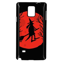 Halloween witch - red moon Samsung Galaxy Note 4 Case (Black)