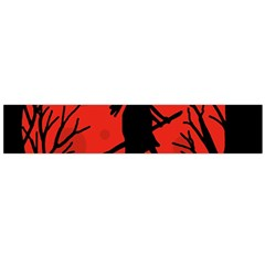 Halloween witch - red moon Flano Scarf (Large)