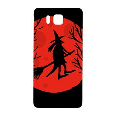 Halloween witch - red moon Samsung Galaxy Alpha Hardshell Back Case
