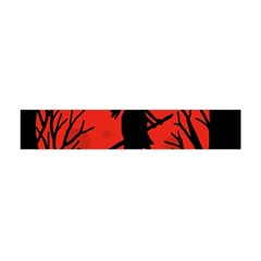 Halloween Witch   Red Moon Flano Scarf (mini)