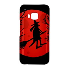 Halloween witch - red moon HTC One M9 Hardshell Case