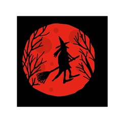Halloween witch - red moon Small Satin Scarf (Square)