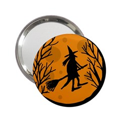Halloween witch - orange moon 2.25  Handbag Mirrors