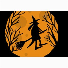 Halloween witch - orange moon Collage Prints