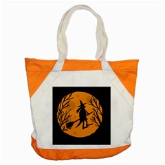Halloween witch - orange moon Accent Tote Bag