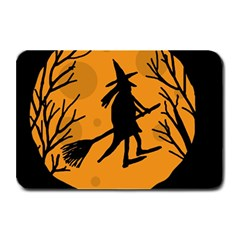 Halloween witch - orange moon Plate Mats