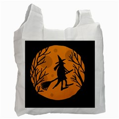Halloween witch - orange moon Recycle Bag (Two Side)