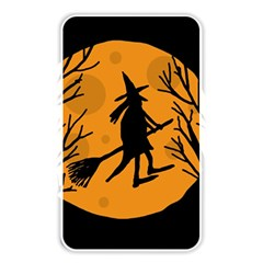Halloween witch - orange moon Memory Card Reader