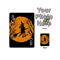 Halloween witch - orange moon Playing Cards 54 (Mini)