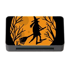 Halloween witch - orange moon Memory Card Reader with CF