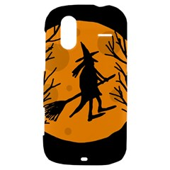 Halloween witch - orange moon HTC Amaze 4G Hardshell Case