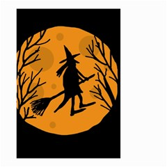 Halloween witch - orange moon Small Garden Flag (Two Sides)