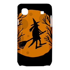 Halloween witch - orange moon Samsung Galaxy SL i9003 Hardshell Case