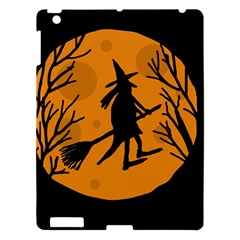 Halloween witch - orange moon Apple iPad 3/4 Hardshell Case
