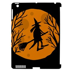 Halloween witch - orange moon Apple iPad 3/4 Hardshell Case (Compatible with Smart Cover)