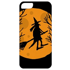 Halloween witch - orange moon Apple iPhone 5 Classic Hardshell Case